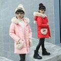 Las Niñas de invierno Faux Fur Fleece Coat Desfile Fiesta Campera de abrigo Para Niñas Traje Para La Nieve ropa de Abrigo Niños Ropa de Abrigo Niñas Ropa de Abrigo
