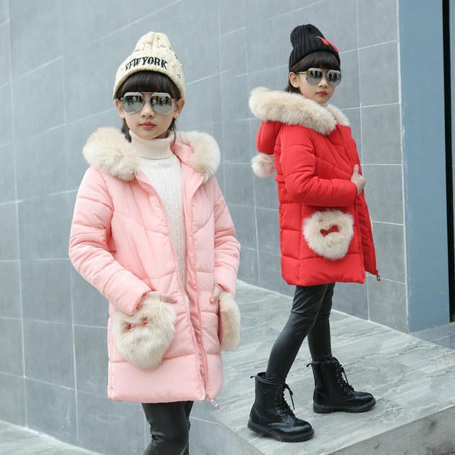 Meninas de inverno Casaco de Lã da Pele Do Falso Partido Pageant Casaco Quente Para As Meninas Snowsuit Crianças Outerwear Roupas Quentes Meninas Outerwear