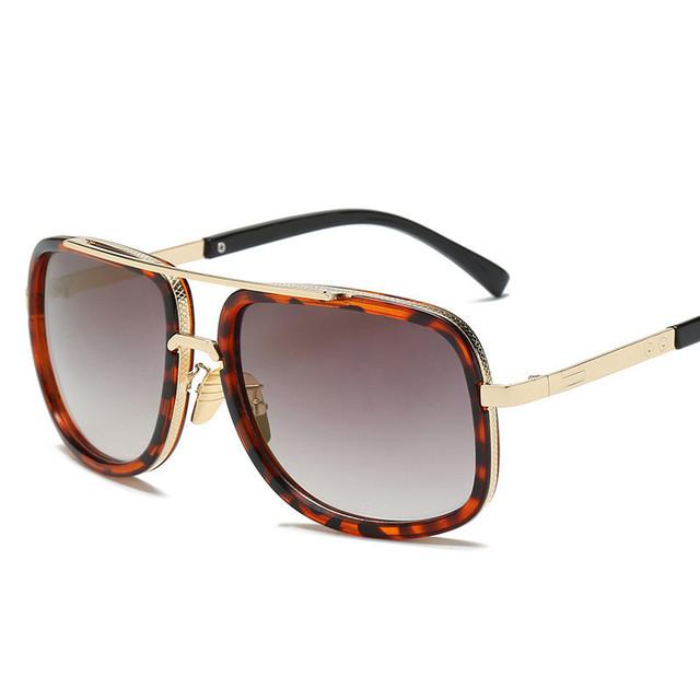 Fashion Big Frame Square Retro Style Sunglasses