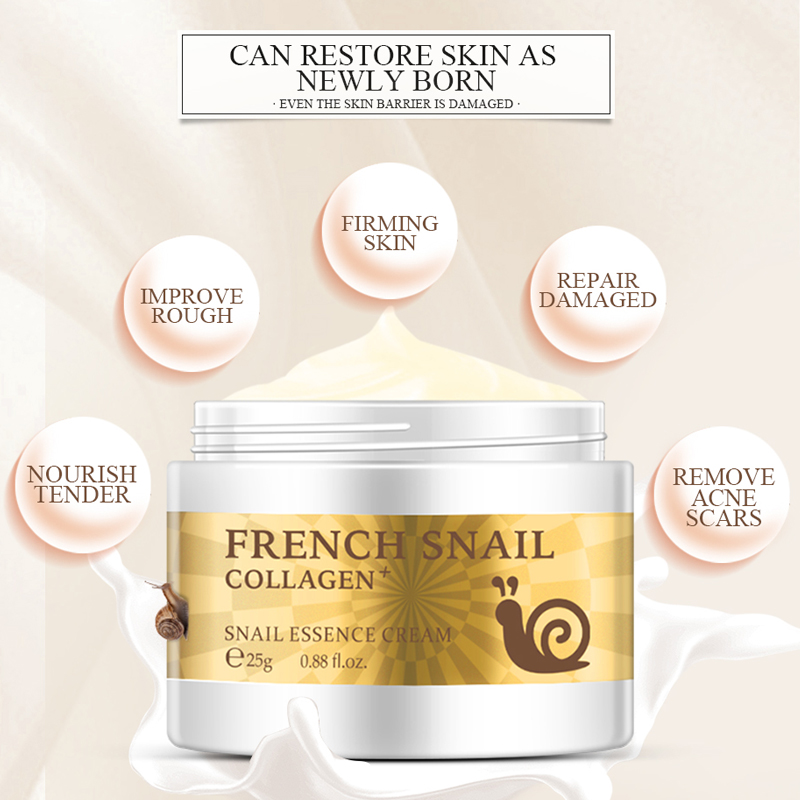 Snail Face Cream Hyaluronic Acid Anti Wrinkle Anti aging Facial Day ...