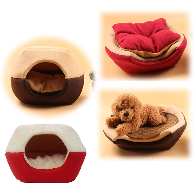 Foldable Soft Warm Animal Puppy Cave Sleeping Mat Pad Nest Kennel Winter Cat Dog Bed House Pet Supplies J2y