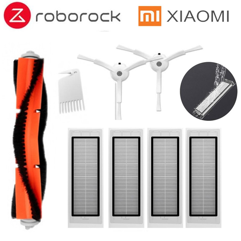 2 * side brush + 4* HEPA filter + 1* main brush Suitable for xiaomi vacuum 2 roborock s50 xiaomi roborock Xiaomi Mi Robot(China)