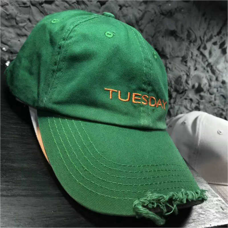 53c165666e56f7 ... 2019 New Vetements Hat Streetwear Monday to Sunday Vetements Embroidery Baseball  Cap Hip Hop Distress Ripped ...