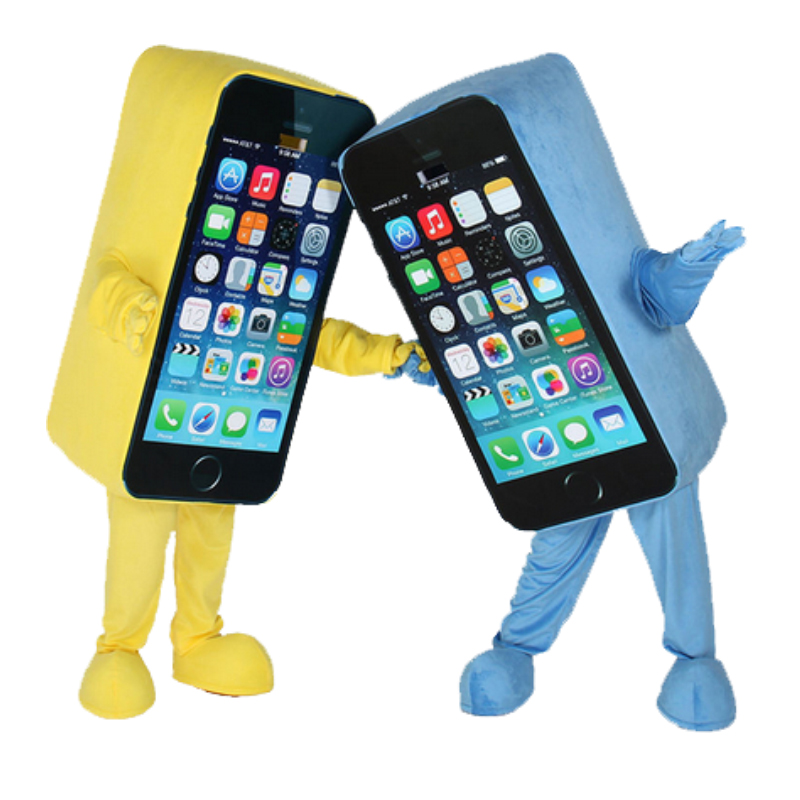 cosplay costumes 5c 5 Promotion Mascot Costume Express Advertising Phone Mobile Store ...
