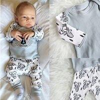 Christmas Infant Baby Boy Outfits Clothes Romper Pants Leggings Hat 3PCS Set