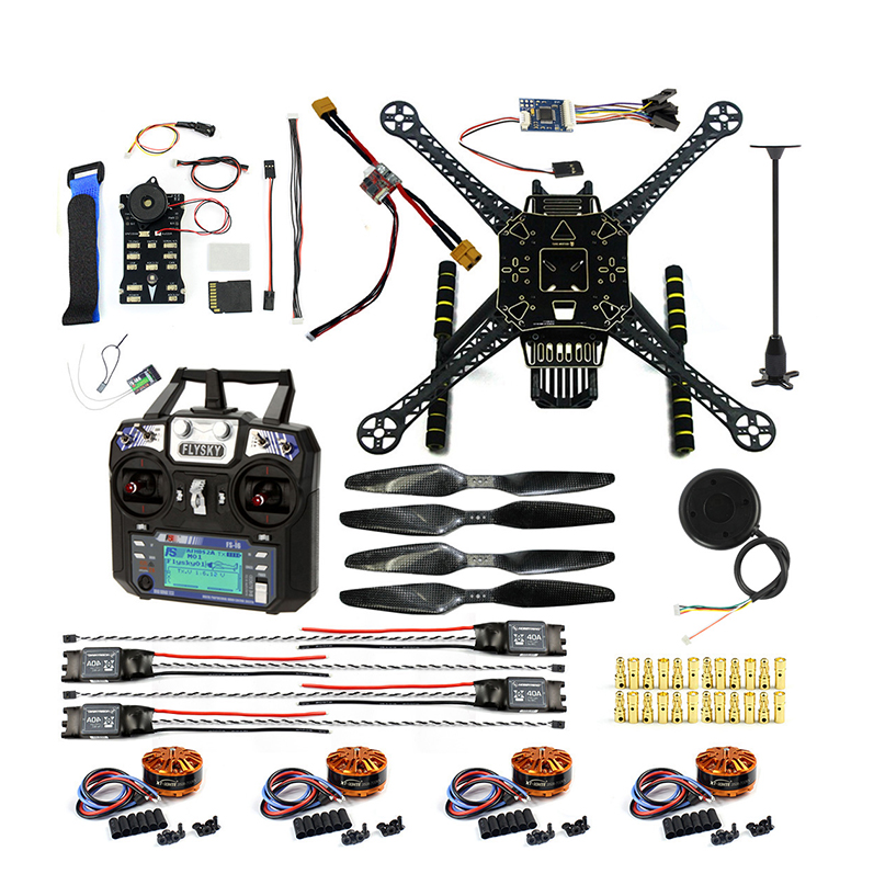 DIY FPV Drone Kit Welded S600 4 axis Aerial Quadcopter w/ Pix2 4 8