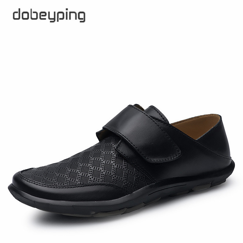 New Men's Casual Shoes 100% Genuine Leather Men Flats Hook & Loop Man Loafers High Quality Male Business Footwear Man Boat Shoes solar 10a 10amp battery charge controller tracer1215bn 12v 24v auto work mppt epever usb sensor mt50 remote meter epsolar