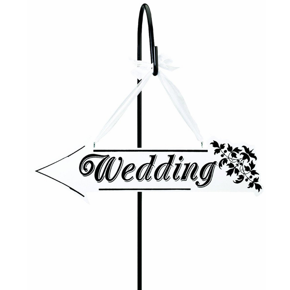 1pcs Wedding Directional Signage White Wood Word Wedding Decoration Letter Craft Home Hanging Ornaments Deco