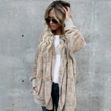 купить Autumn Winter New Women Plus Size Casual Cardigan Pockets Hooded Long Sleeve Long Sweaters Loose Female Solid Oversize Coat дешево