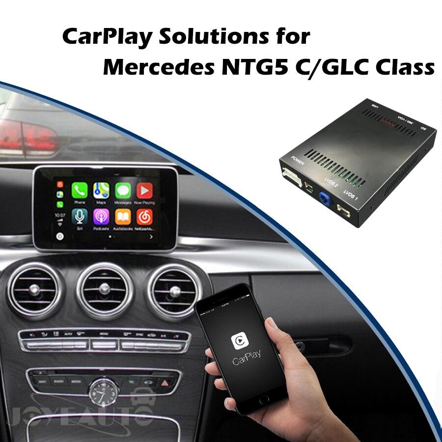 US $362 45 |Aftermarket Mercedes NTG5 C Class W205 GLC W253 Smart OEM Apple  Carplay Android Auto Mirroring box Retrofit with Original Mic-in Car
