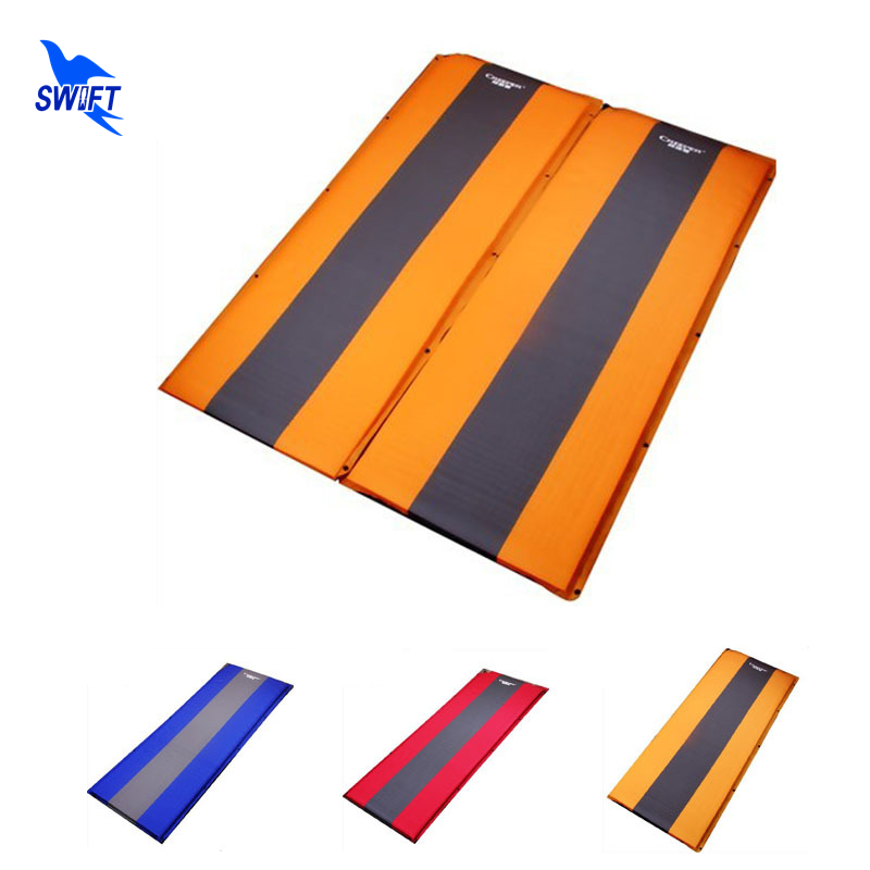 5cm Thick Spliced Automatic Inflatable Camping Mat Air Mattress Self-Inflating Pad Folding Tent Bed Outdoor Camp Sleeping Airbed spliced air mattress self inflating pad automatic inflatable camping mat moistureproof folding tent bed outdoor sleeping airbed