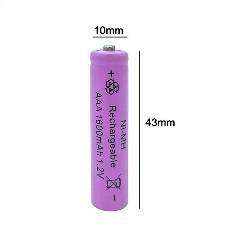 8 10 12 16pcs 1 2V AAA aaa 3A 7 NI MH Battery 1600mAh Rechargeable batteries batteria Digital Batteries camera toys clock in Rechargeable Batteries from Consumer Electronics