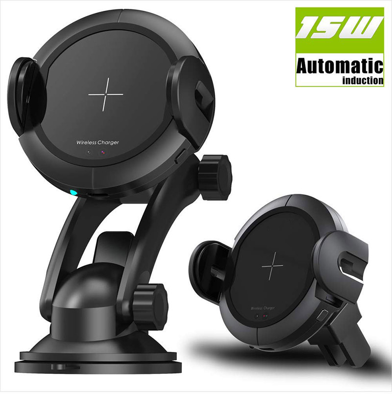 Infrared Motion Sensor Wireless Car Charger - 15W Fast Charger Car Mount, Holder for Iphone x 8/8Plus SamsungInfrared Motion Sensor Wireless Car Charger - 15W Fast Charger Car Mount, Holder for Iphone x 8/8Plus Samsung