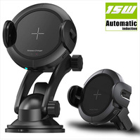 Infrared Motion Sensor Wireless Car Charger 15W Fast Charger Car Mount, Holder for Iphone x 8/8Plus Samsung