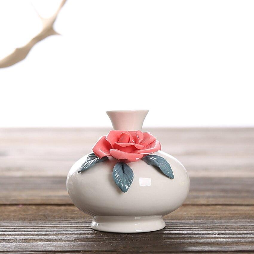 Офис домашнего интерьера изделия Малый Украшения творческий ручной Керамика ваза мини щепотку ваза для цветов