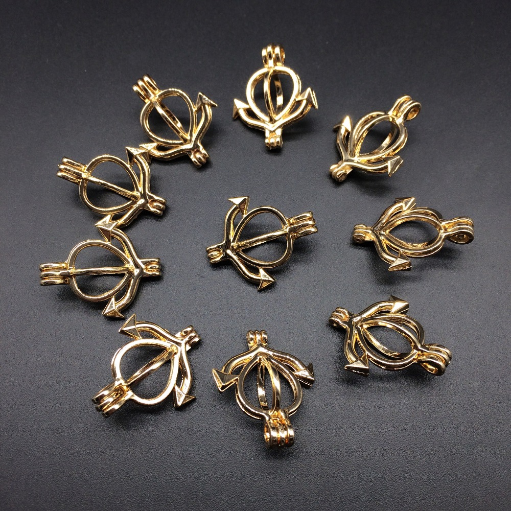 10pcs Gold Color Evil Anchor Design Jewelry Making Supplies Alloy