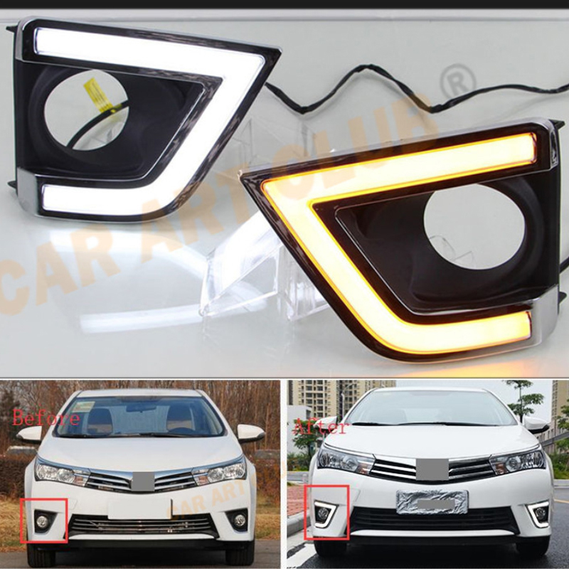 For Toyota Yaris 2013 2014 2015 daytime running light drl refit replacement parts drl auto parts car accessories car lights
