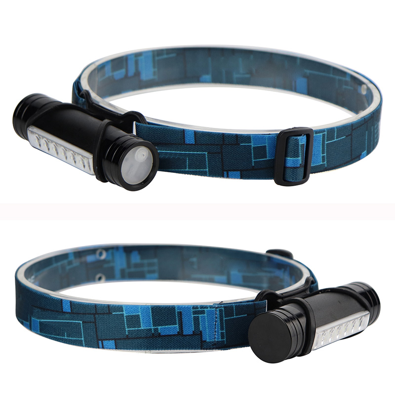BORUiT 600lm 6 LEDs Headlight 3 Modes USB Rechargeable Headlamp Bike Cycling Head Torch Waterproof Hunting Lamp Built-in Battery