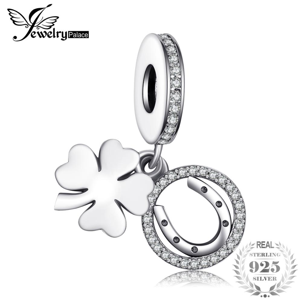Jewelrypalace 100% 925 Sterling Silver Charms 4 Leaf Clover Charms Beads fit Bracelets Anniversary Gifts Fashion DIY JewelryJewelrypalace 100% 925 Sterling Silver Charms 4 Leaf Clover Charms Beads fit Bracelets Anniversary Gifts Fashion DIY Jewelry