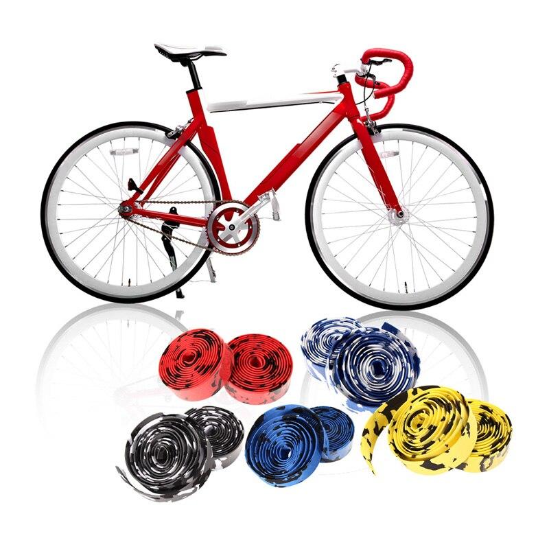 2PCS Sports Cycling Road Bike Cork Handlebar Grip Tape Wrap 2 Bar Plug