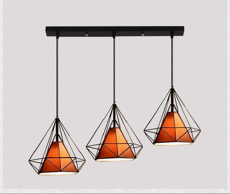 Forma de diamante lámpara colgante de Metal Creative Retro hierro ...