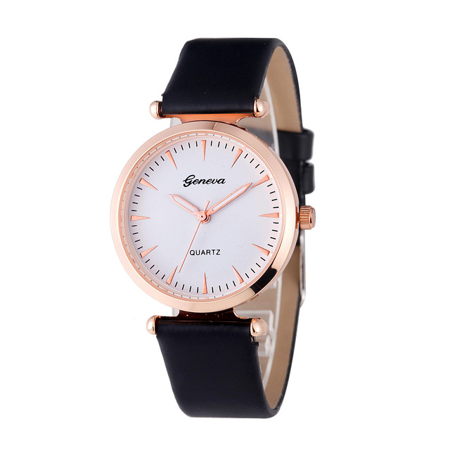 Montres Women Watches Watch Small Faux Leather Quartz Analog Wrist Watch Ladies