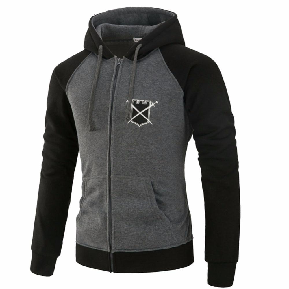 Brand 2018 Hoodie Cardigan Zipper Spell Color Hoodies Men Fashion Tracksuit Male Sweatshirt Hoody Mens Purpose Tour