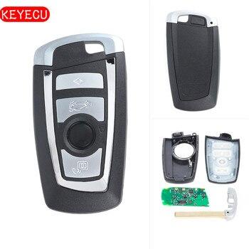 Keyecu 2017 4 Carro Fob Chave Remoto Botão 315 mhz/433 mhz PCF7953/49 Chip para BMW F série FEM/BDC CAS4 CAS4 + 730 740 750