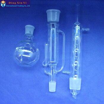 250 ml De Vidro Soxhlet extractor, Aparelho de Extração soxhlet com bulbed condensador, condensador e extractor corpo, Produtos Vidreiros de Laboratório