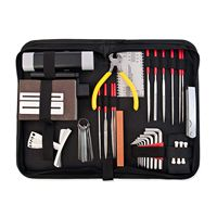 Guitar Repair and Maintenance Accessories Kit Complete Care Set of Tools For Guitar Ukulele & Bass. Guitar Kit With Convenient