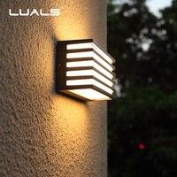 Outdoor Wall Lights Simple Modern Wall Light Waterproof LED Wall Lamp Luxury Villa Aluminum Wall Lamps Hallway Art Deco Lighting
