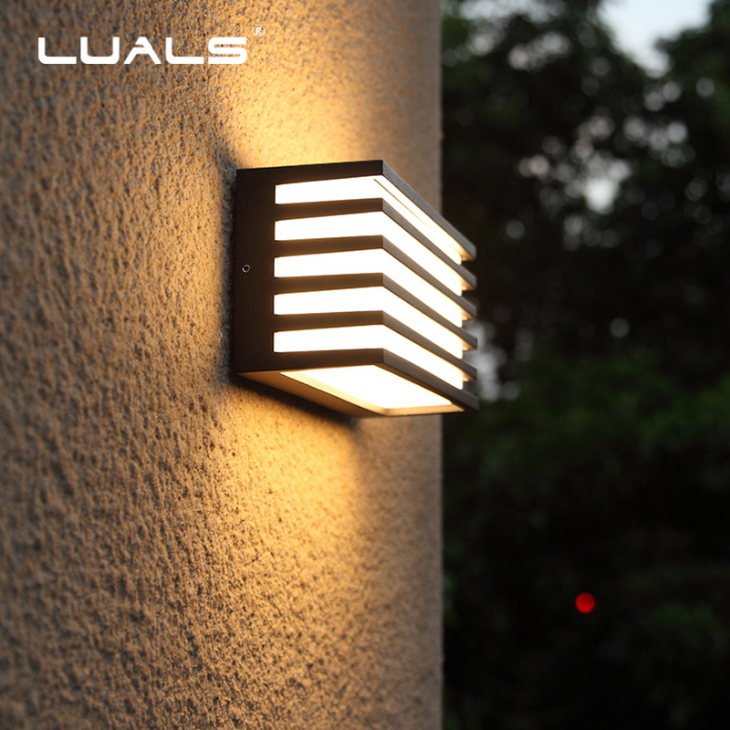 Outdoor Wall Lights Simple Modern Wall Light Waterproof LED Wall Lamp Luxury Villa Aluminum Wall Lamps Hallway Art Deco Lighting luxurious crystal wall lamp metal plating modern wall light hotel ideas wall lights indoor modern wall lamps art deco lighting
