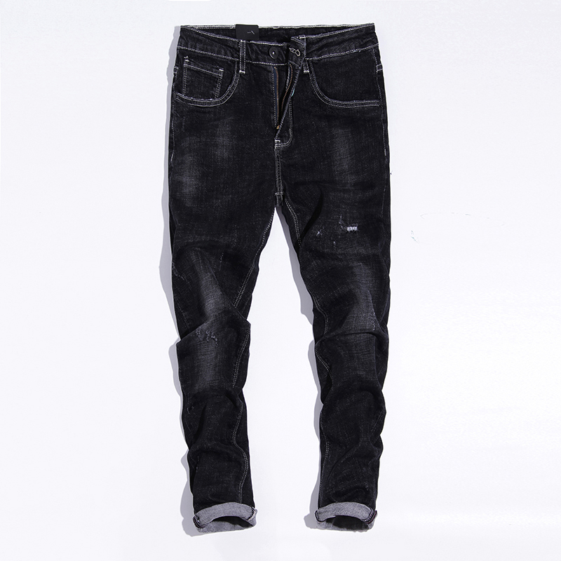 Men 's Jeans Loose Straight Youth Pants Casual Pants Autumn Winter Warm Pants fashion cotton warm jeans men long denim trousers men s jeans men male pants 2017 new men s cotton denim trousers vmc brand men s mid waist straight fashion casual pants