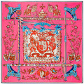 Silk twill scarf foulard women Royal anthem large square scarves shawls bufandas 130x130cm