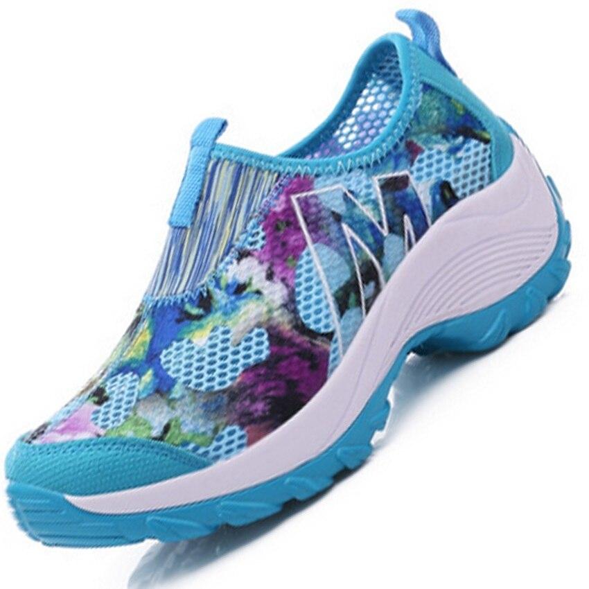 vrouwen wandelschoenen bloemen vrouwen platform dames reizen mesh sportschoenen vrouwen merk wandelen sneakers vrouwen zapatos hombre 263k
