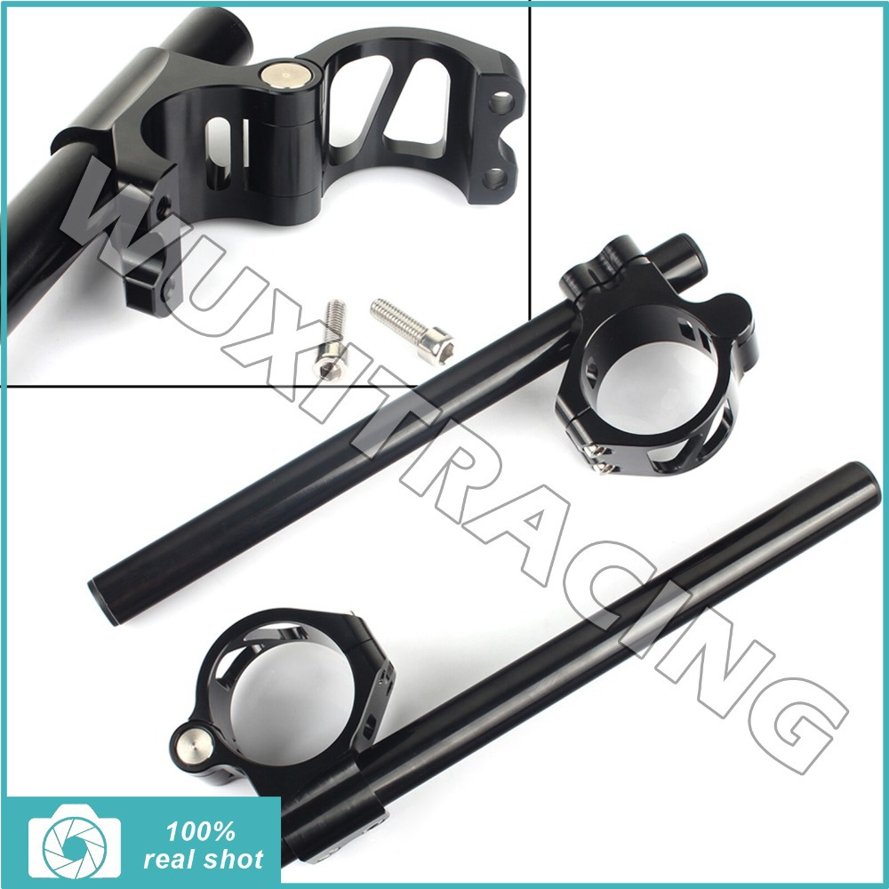 """7//8/"""" 50MM Clip-on Motorcycle Handlebars For Yamaha YZF-R6 2005-2012 06 07 08 09"""
