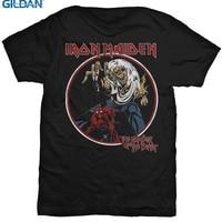 GILDAN Custom T Shirt Design Gildan Short Sleeve Graphic O Neck Mens Iron Maiden Number Of