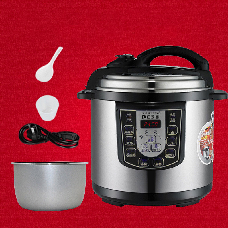 12L Pressure Cooker Programmable Multivarka Electric Cooker Nonstick Cooking Pot Heated Food Container