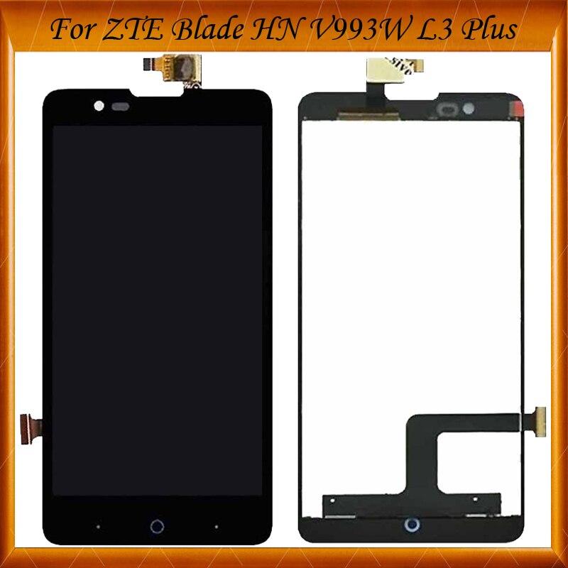 100% Arbeiten Gut Für Zte Blade Hn V993w L3 Plus Lcd Display + Touchscreen Neue Digitizer Glasscheibenanordnung Auf Lager Hell In Farbe