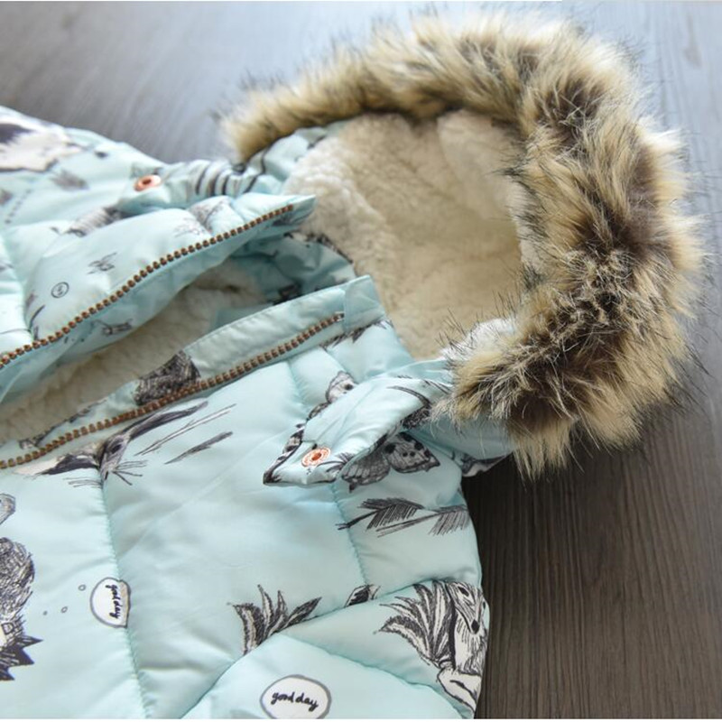 1686f99c2 Ymila70 2017 New Winter Baby Girl Coat Print Rabbit Bunny Fleece Worm  Hooded Print Girl Coat Girl Outerwear Girls Clothes Lolita | Mikes  Wholesale Mart