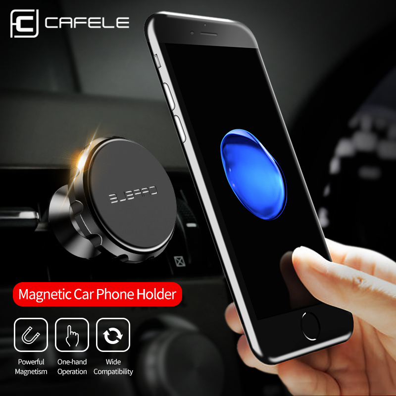 CAFELE Universal Magnetic Holder 360 Degree Rotation Aluminium Alloy Car GPS Magnet mount Phone Holder For iphone Smart Phone