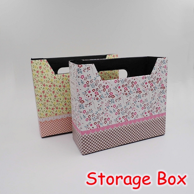 12 pieces/lot) kawaii stationery cute diy desk organizer box / paper Cute Organizer Box