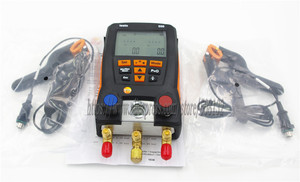 Image 3 - With 4pcs Hoses Testo 550 Digital Manifold Gauge kit with Bluetooth / APP 0563 1550, 2PCS clamp probes,Suitcase