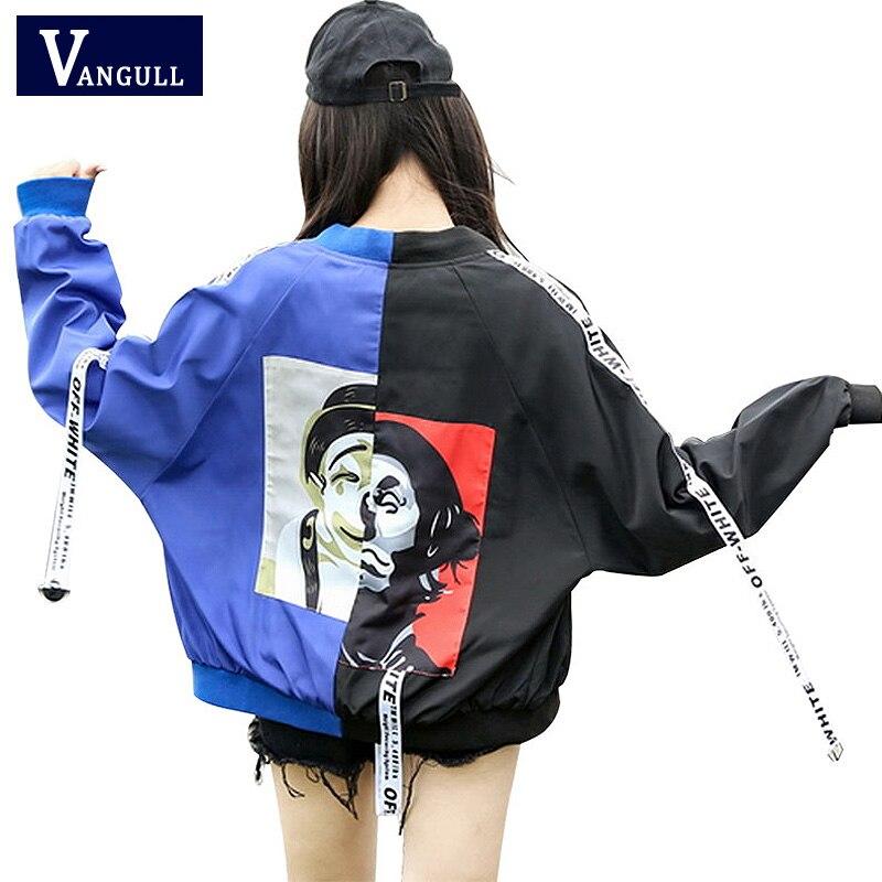 Bomber   Jacket   Women 2018 New Spring Men couple Long Sleeve   Basic   Coats Casual Thin loose Outerwear Korean Hip hop Bomber   Jackets