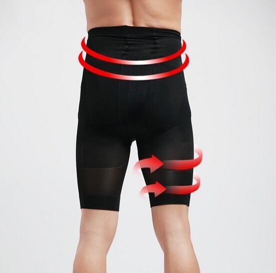 PRAYGER Men High Waist Slimming Abdomen Control Panties Seamless Girdle Tummy Trimmer Corset Lift Butt Underwear 3