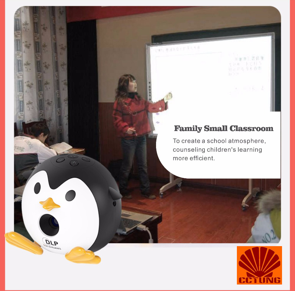 400Lumen Cute Penguin WIFI Micro DLP Mobile LED Projector Support 1080P TF USB HDMI AV & IOS Android Input with Battery Built-in_22