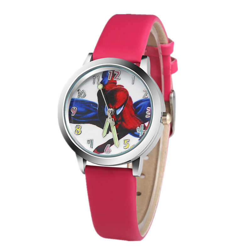 Hot koop cartoon spiderman horloge kinderen horloges Lederen - Kinderhorloges - Foto 5