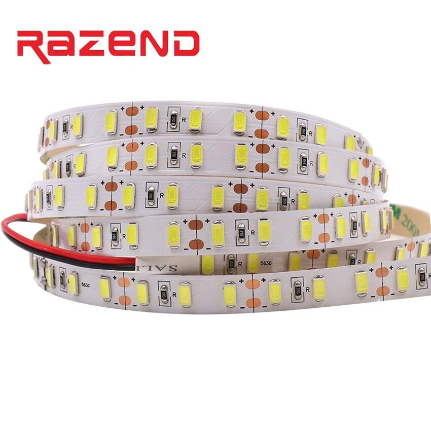 Tira de luz led Samsung SMD 5630 5m 60 leds/m 12V cinta led no impermeable natural Neutral blanco cálido Ultra brillante Bombillas LED H1 súper brillantes de alta potencia H3 10-SMD 5630 luces antiniebla LED para coche luz de giro luz de conducción blanco ámbar rojo D45