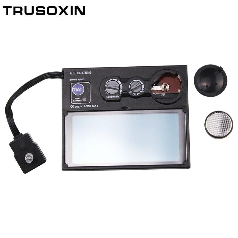 Batería Solar fuera del Control de oscurecimiento automático/sombreado molienda soldadura casco/soldador/soldadura de filtro/ lente