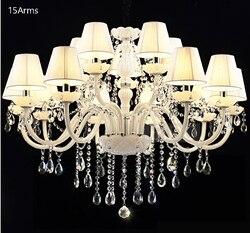 SHIXNIMAO luksusowe elektryczny kryształowy żyrandol 6Arm/8Arm/10Arm/15Arm kryształ lampa kryształowy żyrandol